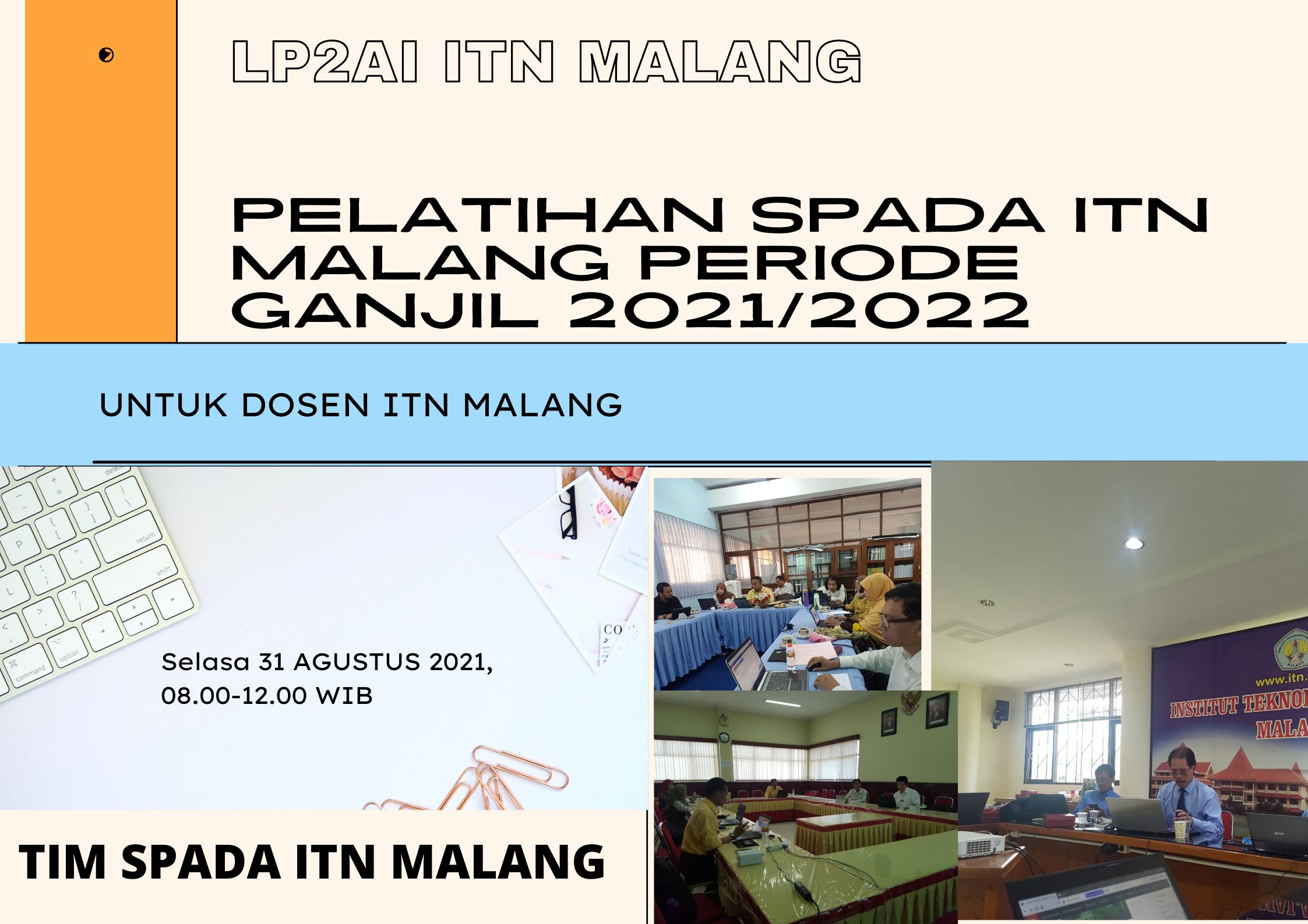 Pelatihan Spada Semester GANJIL 2021/2022